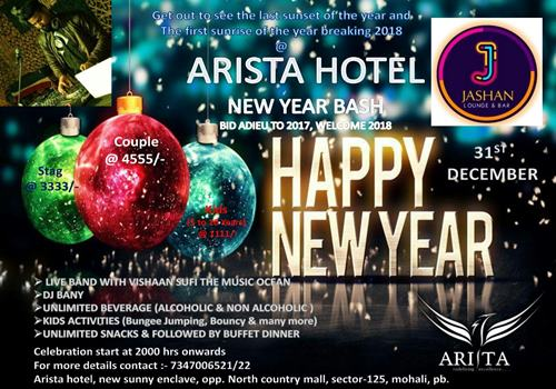 cheers to new year with hotel aristas bang on nye party