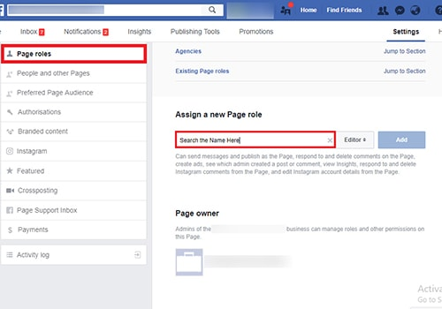guide to add admin to facebook page