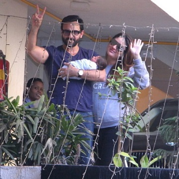 mommie kareena kapoor and daddy saif ali khan introduces baby taimur to the world