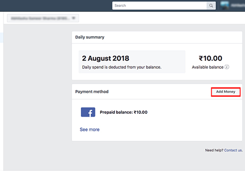 step by step guide to add creditdebit card to facebook page