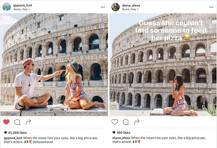 the crazy instagram stalker followed the woman around the world clicking the exact pics as hers